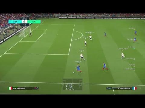 pes2018 - 10 vs 10 - ITALIA vs FRANCIA 2° MATCH
