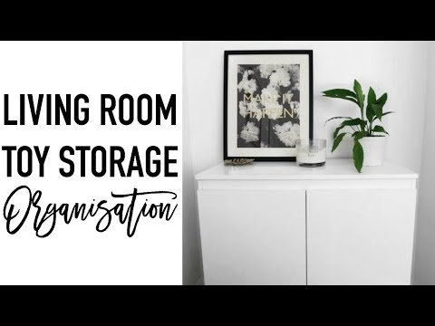 Living Room Toy Storage Ideas | KIDS TOY ORGANISATION | Decluttering & Minimalisation
