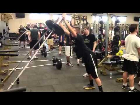 Miller Baseball In The Weight Room