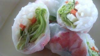 Vietnamese Shrimp Salad Rolls - Fresh, Delicious!