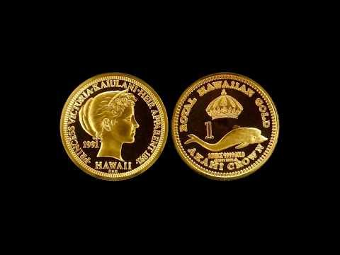 Hawaii Coins: Princess Victoria  Kaiulani Akahi Crowns Struck in Gold