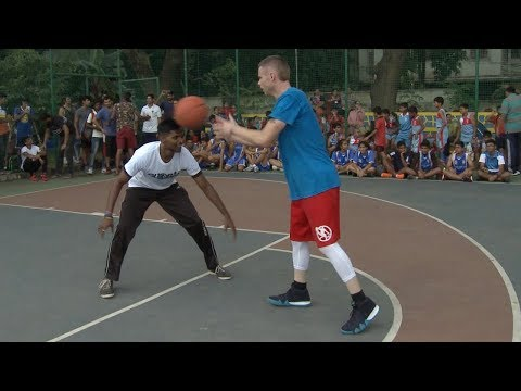The Professor 1v1 vs Feisty India Pro Player.. Game gets physical, NBA India event