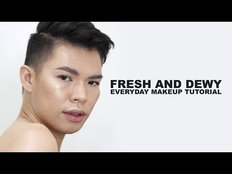 FRESH AND DEWY MAKEUP TUTORIAL 2018 PHILIPPINES  Kenny Manalad