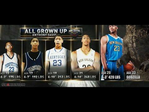 Anthony Davis High School Basketball Mixtape (NBA Growth Spurt)