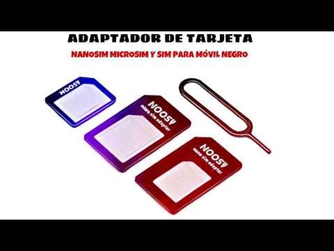 Video de Adaptador de tarjeta nanoSIM microSIM y SIM para movil  Negro