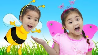 Suri & Annie Pretend Play Bee & Butterfly Kids Adventure