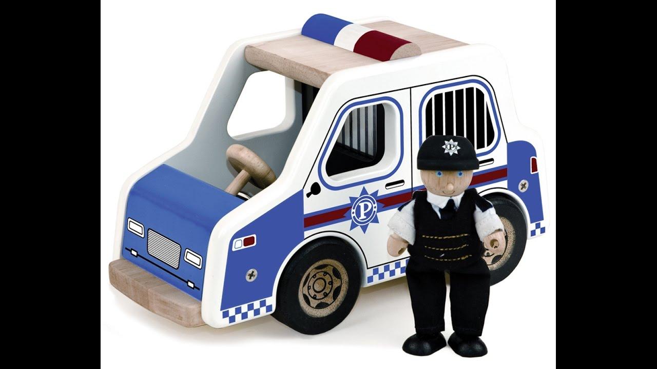 Macchina della polizia di riparazione gioco bambini cartoni