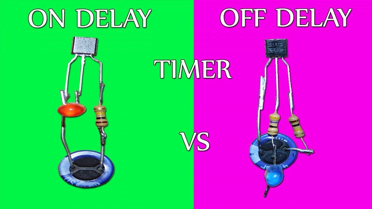 On Delay Vs Off Delay Timer Circuit