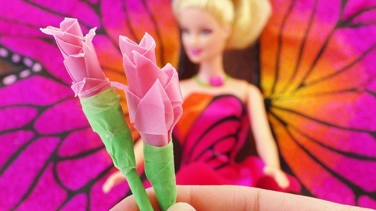barbie rose selber basteln deutsch diy barbie spielzeuge