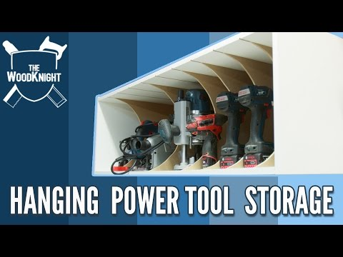 Hanging Power Tool Storage (Mitre Saw Station Part #4)