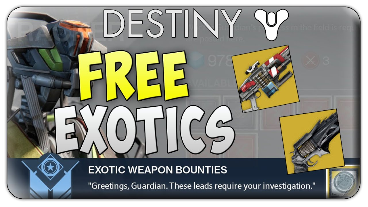 Destiny how to get free exotic weapons in the taken king destiny