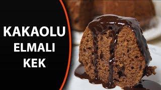 Çikolata soslu kakaolu elmalı kek tarifi - Kakaolu elmalı kek tarifleri