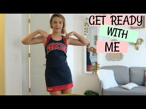 GRWM FOR SCHOOL CHEER! EMMA SNEAKS TO SEE HER BOYFRIEND!