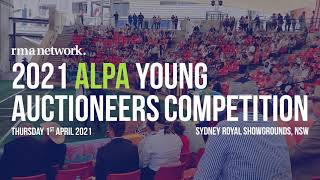 2021 ALPA Young Auctioneers Competition, Thursday 1st April 2021