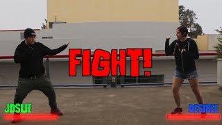 Fighting Stop Motion - Desiree vs Josue -