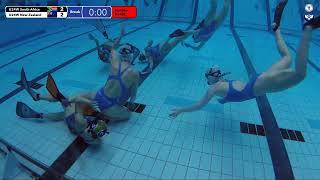 Game 195  RSA Vs NZL U24W ENGL SH  5th CMAS Underwater Hockey Age Group Worlds   Sheffield UK