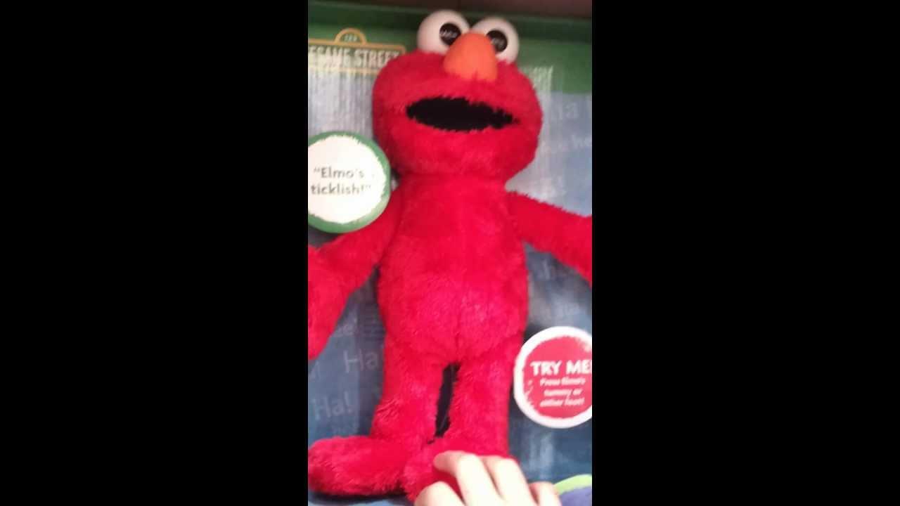 Talking Elmo Toy : Elmo talking toy tickle time youtube