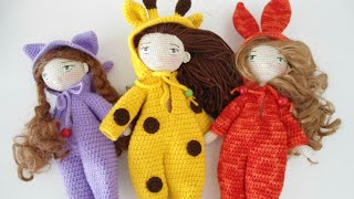 How to crochet  basic doll jumpsuits / doll clouthes