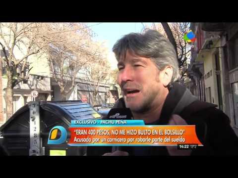 Pachu Peña escrachado en un video: Un carnicero lo acusa de llevarse su dinero