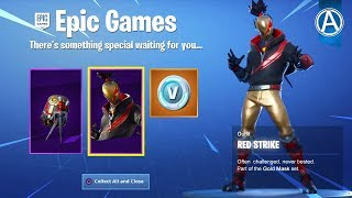 "NEW ""RED STRIKE SKIN"" STARTER PACK Gameplay! // Use Code: byArteer (Fortnite Battle Royale LIVE)"