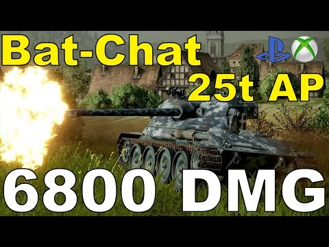 Bat-Chat 25t AP Wasze Bitwy#66[REBEL MC] [6.8k Dmg.] Wot Xbox One/Ps4