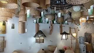 대나무 우드 벽 램프 무드등 거실 카페 빈티지 조명