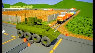 Can a Lego Tank STOP the Train? Brick Rigs