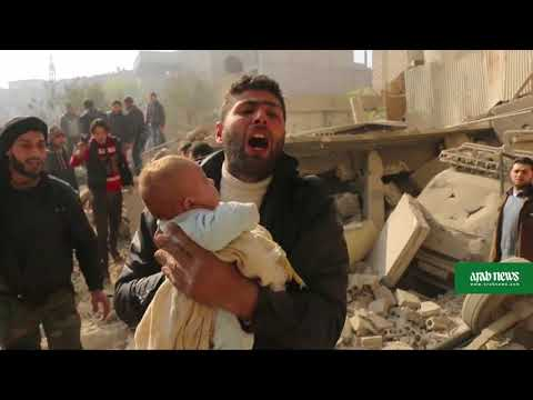 Bombardment kills 15 civilians in Syria rebel enclave