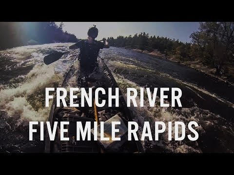 Five Mile Rapids, French River - High Water In Late Summer