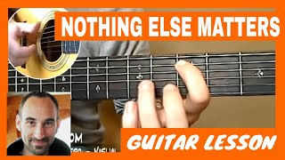 Nothing Else Matters Guitar Lesson - part 1 of 4