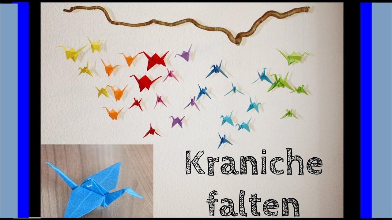 diy mit mel kraniche falten f r ein origami mobile youtube. Black Bedroom Furniture Sets. Home Design Ideas