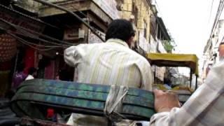Old Delhi. Cycle rickshaw
