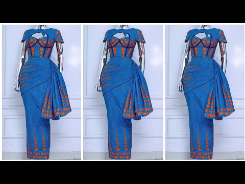 How to Drape on a Dress/Skirt || Easiest drape method || Fabric Manipulation ||