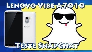 Lenovo Vibe A7010 - Teste Snapchat