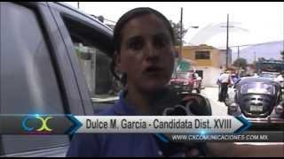 Dulce Ma. García recorre las calles de Camerino Z. Mendoza