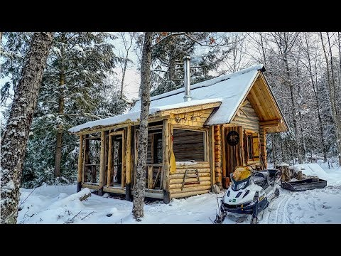 Extreme Early Winter at the Cabin in the Woods of Canada