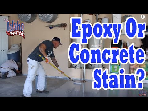 CONCRETE STAIN OR EPOXY for Garage Floors? Best product ...