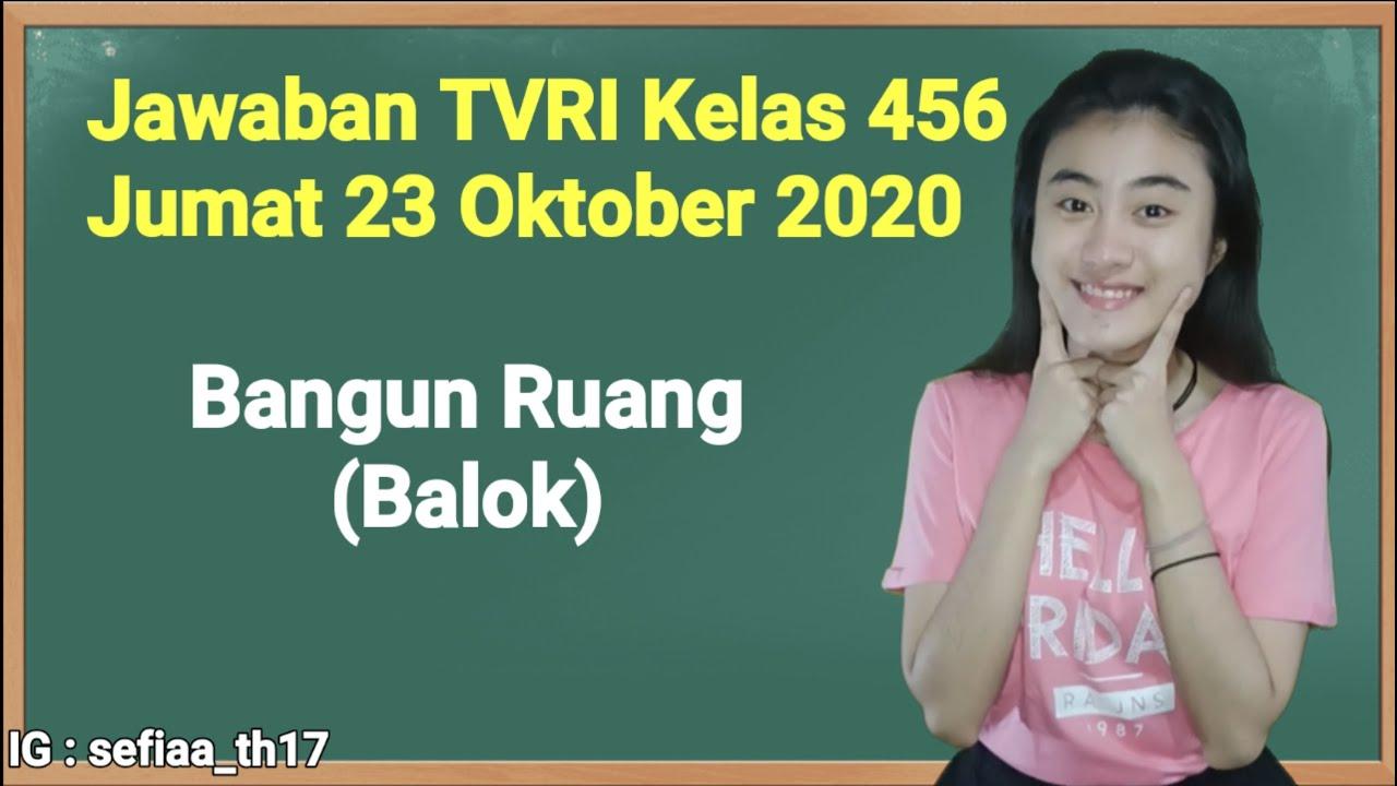Kunci Jawaban TVRI Kelas 4-5-6 SD Jumat 23 Oktober…