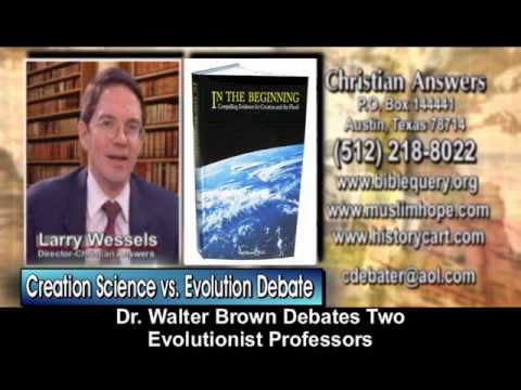 ONE CREATIONIST VS. TWO EVOLUTIONISTS DEBATE: INTELLIGENT CREATION VS. MINDLESS CHAOS, LUCK & CHANCE