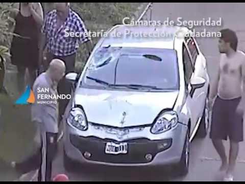 Violento choque en San Fernando entre una moto y un auto, con un herido
