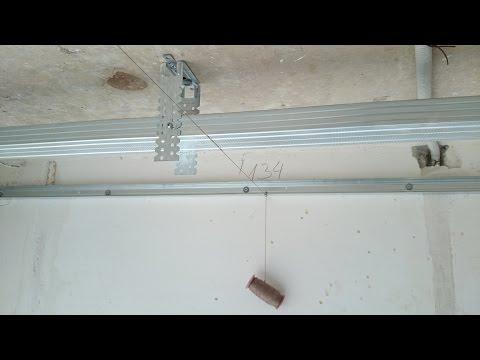 видео: Как сделать потолок из гипсокартона. plasterboard ceiling.