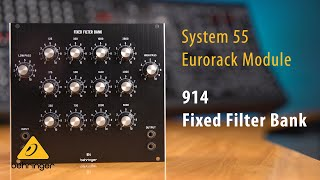914 Fixed Filter Bank Eurorack Module