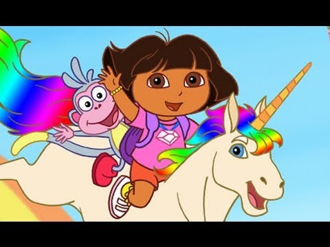 Dora The Explorer Enchanted Forest Dora Saves Unicorn Children Videos Kids Games