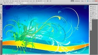 Vector Swirls, Florals Design Tutorial with Photoshop and Illustrator