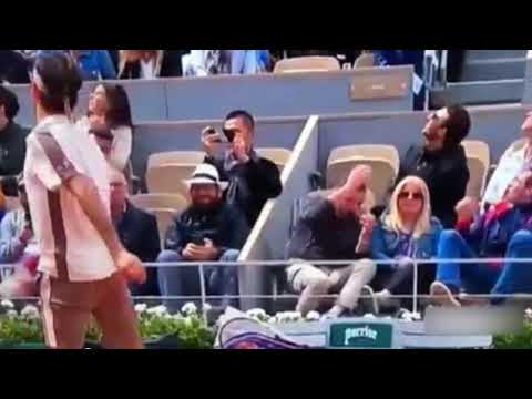 Angry Roger Federer Scares Spectator 😂