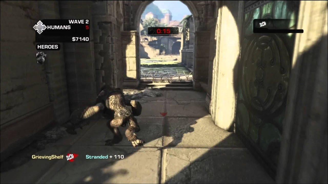 Wretch Gameplay Beast Gears Of War 3 Youtube