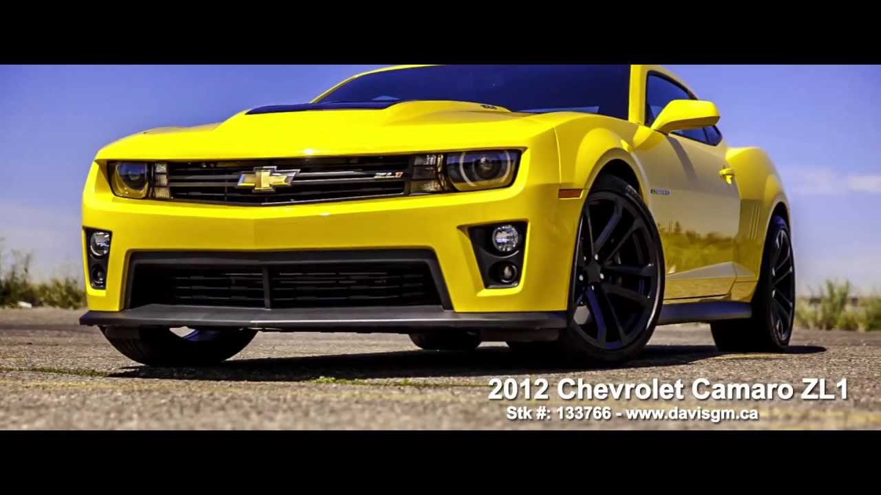 Used Yellow 2012 Camaro ZL1 FOR SALE in Alberta - YouTube