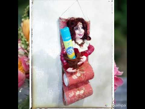 """Кукла из капрона - Хранительница туалетных принадлежностей. Мадам """"Фу-фу""""."""