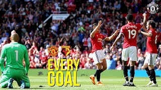 Every Premier League Goal | Manchester United v Watford | Lukaku, Rashford, Martial, Lingard
