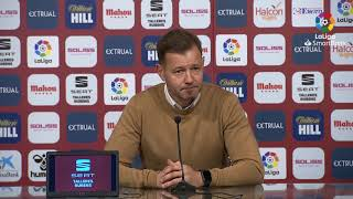 Rueda de prensa de Manuel Mosquera tras el Albacete BP vs Extremadura UD (1-1)